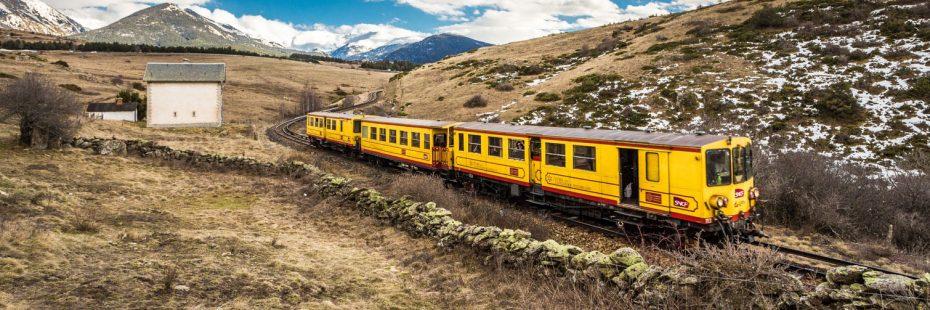 vue train jaune